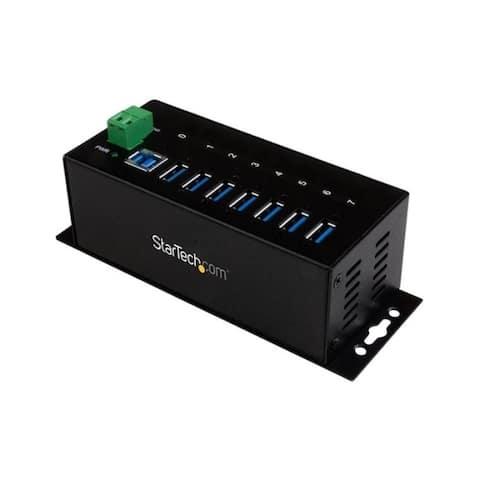 Startech.com st7300usbme rugged metal 7port usb 3.0 hub - Black