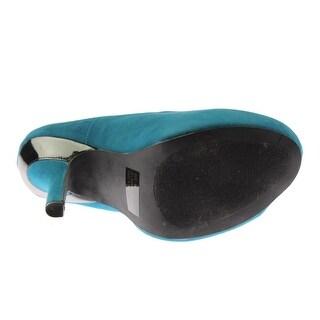 Qupid Womens Faux Suede Rounded Toe Stilettos - 6 medium (b,m)