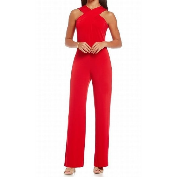 8ffaa006e9f Shop MICHAEL Michael Kors NEW Red Blaze Womens Size 12 Wide-Leg Jumpsuit -  Free Shipping On Orders Over  45 - Overstock - 18240775
