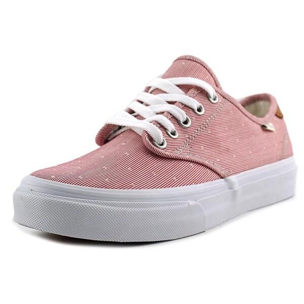 122c339997 Shop Vans Camden Deluxe Women Round Toe Canvas Red Sneakers - Free ...