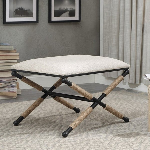 Ella Campaign Accent Stool. Opens flyout.
