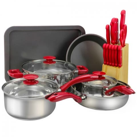 Sunbeam Crawford 22 Piece Cookware Combo Set