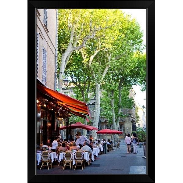 """City View in Aix-en-Provence, Provence-Alpes-Cote d'Azur, France"" Black Framed Print"