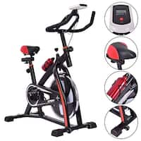 Costway Exercise Bicycle Indoor Bike Cycling Cardio Adjustable Gym Workout Fitness Home