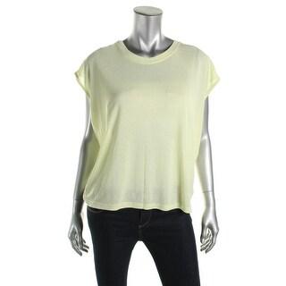 Zara W&B Collection Womens Lightweight Short Sleeves Knit Top