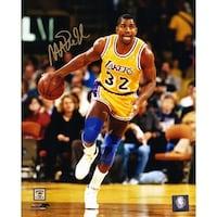 ecc9e2ef6 Shop Magic Johnson Autographed Los Angeles Lakers 16x20 Photo vs ...