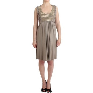 Roccobarocco Khaki studded sheath dress - it42-m