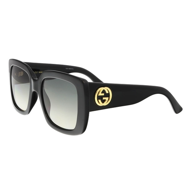 8d7015fb71 Shop Gucci GG0141S 001 Black Square Sunglasses - Free Shipping Today ...