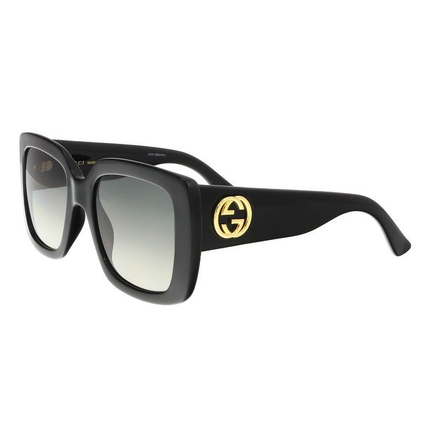 9c8c24b520 Shop Gucci GG0141S 001 Black Square Sunglasses - Free Shipping Today ...