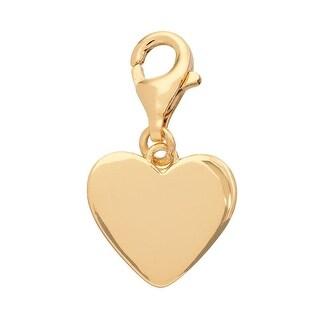 Julieta Jewelry Heart Gold Sterling Silver Charm