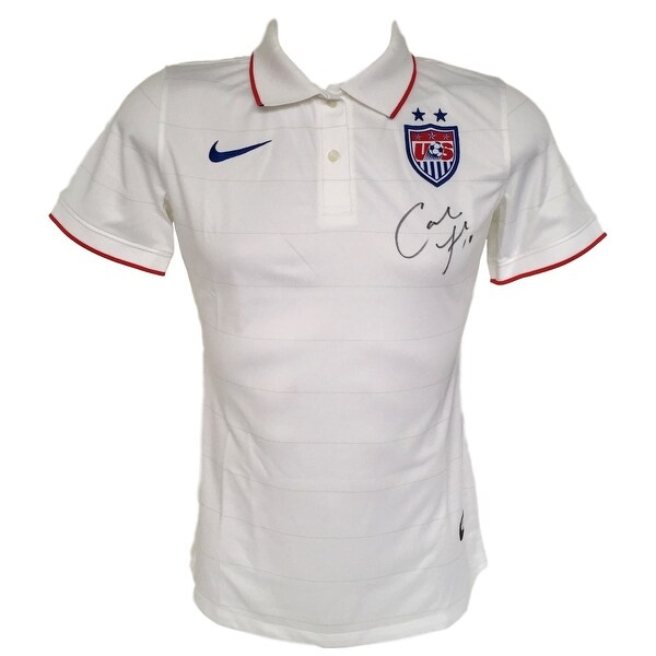 81039e0a5 Shop Carli Lloyd Signed Authentic Nike USA Collared Jersey Large PSA ...