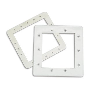 "8.25"" HydroTools Standard Swimming Pool Front Skimmer Face Plate and Butterfly Gasket - White"