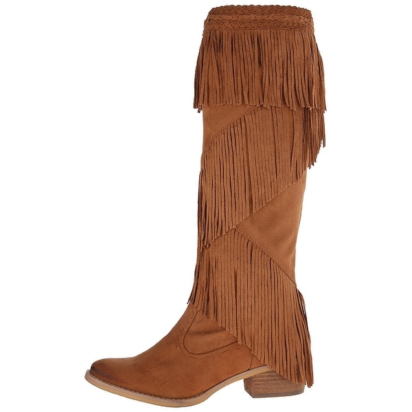 Not Rated Womens Witty giddy Fabric Closed Toe Knee High Fashion Boots