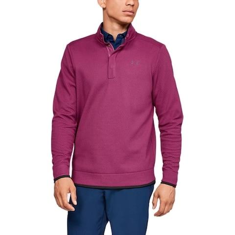Under Armour Men's Storm Sweater Fleece Golf Shirt (Charged Cherry Medium) - Charged Cherry - Medium