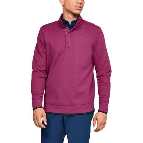 Under Armour Men's Storm Sweater Fleece Golf Shirt (Charged Cherry XXL) - Charged Cherry - XXL
