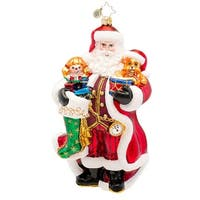 Christopher Radko Glass A Christmas Classic Santa Claus Holiday Ornament #1017263