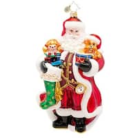 Christopher Radko Glass A Christmas Classic Santa Claus Holiday Ornament #1017263 - RED