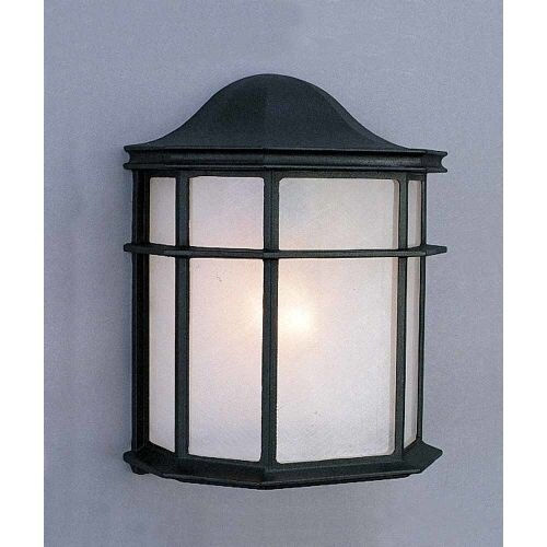 "Volume Lighting V8879 1 Light 10"" Height Outdoor Wall Sconce with White Acrylic"