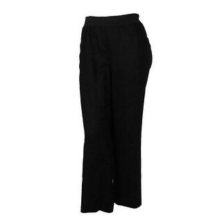 INC International Concepts Women's Wide Leg Linen Pants - deep twilight