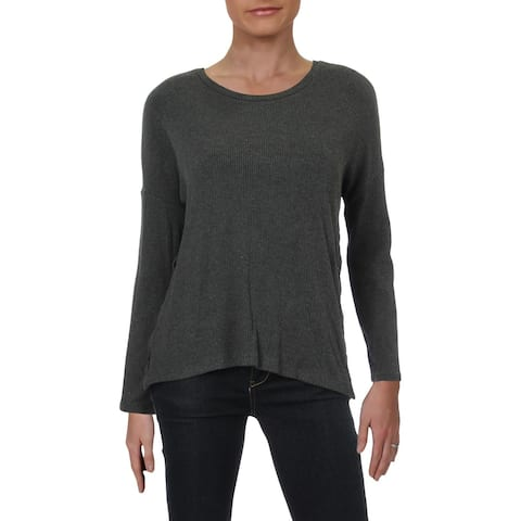 Catherine Malandrino Womens Pullover Sweater Lace-Up Ribbed
