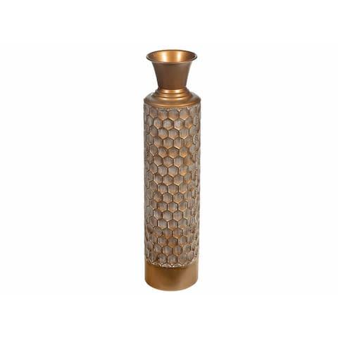 """Metal Vase (18"""") (hunnee)"""