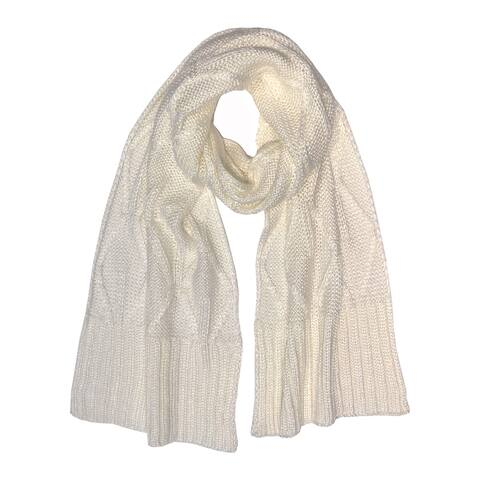 Laundry by Shelli Segal Womens Accessories White Ivory One Size Scarf