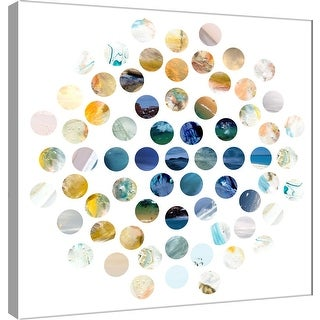 """PTM Images 9-101120  PTM Canvas Collection 12"""" x 12"""" - """"Circle Grid C"""" Giclee Abstract Art Print on Canvas"""