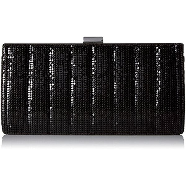 Jessica McClintock Womens Bailey Evening Clutch Quilted Mesh - Small