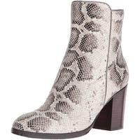 Donald J Pliner Womens Sonoma Almond Toe Ankle Fashion Boots