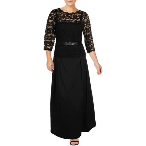 Adrianna Papell Womens Plus Evening Dress Formal Lace - 20W