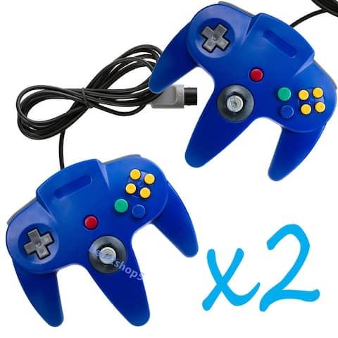 2 Pcs Long Handle Controller Pad Joystick for Nintendo 64 N64 System