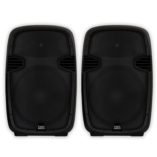 "Acoustic Audio AA152UB Powered 15"" Bluetooth Speaker Pair 1800 Watts with USB MP3 Players"