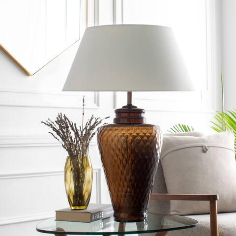 Morton Black Glass Traditional Table Lamp
