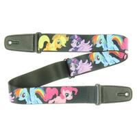 My Little Pony Ponies Black w/ MLP Logo Guitar Strap - One Size Fits most