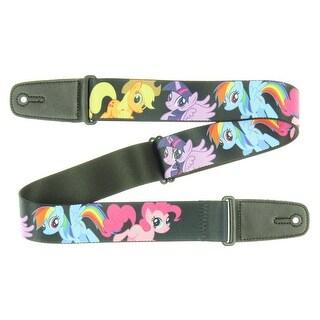 My Little Pony Ponies Black w/ MLP Logo Guitar Strap