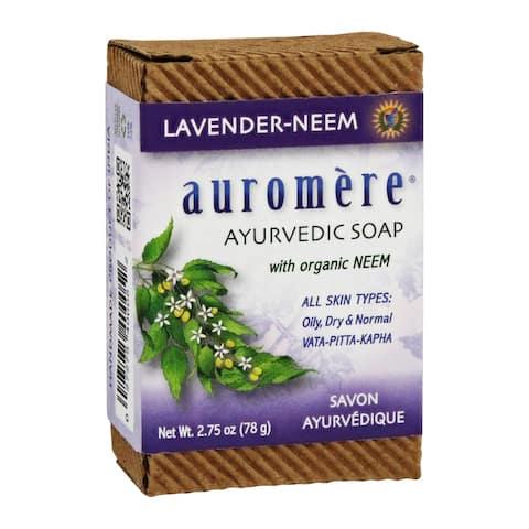 Auromere - Ayurvedic Bar Soap with Organic Neem Lavender-Neem - 2.75 - 2.75 oz.