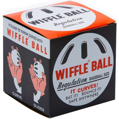 "Wiffle Ball 9"" Original Regulation Baseball Size Curve Plastic Ball"