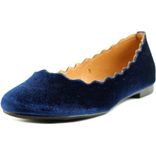 Athena Alexander Taffy Women Round Toe Canvas Blue Flats