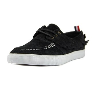 Diamond Supply Co Yacht Club Men Moc Toe Suede Black Boat Shoe
