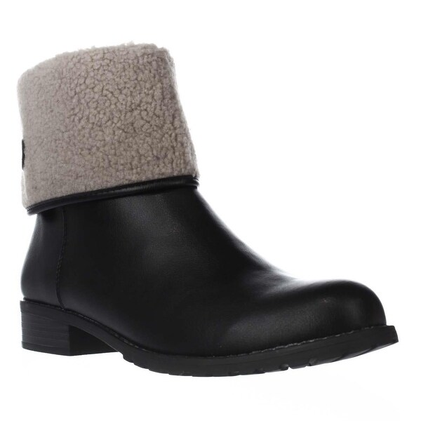 SC35 Beana Fleece Lined Winter Ankle Boots, Black/Natural