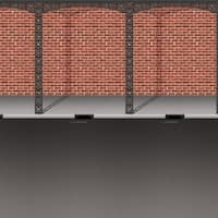 Pack of 6 Mardi-Gras Brick Wall and Street Photo Backdrop Wall Decorations 4' x 30' - Red