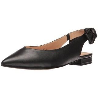 Nanette Lepore Womens Ariel-NL Leather Pointed Toe SlingBack Slingback Flats