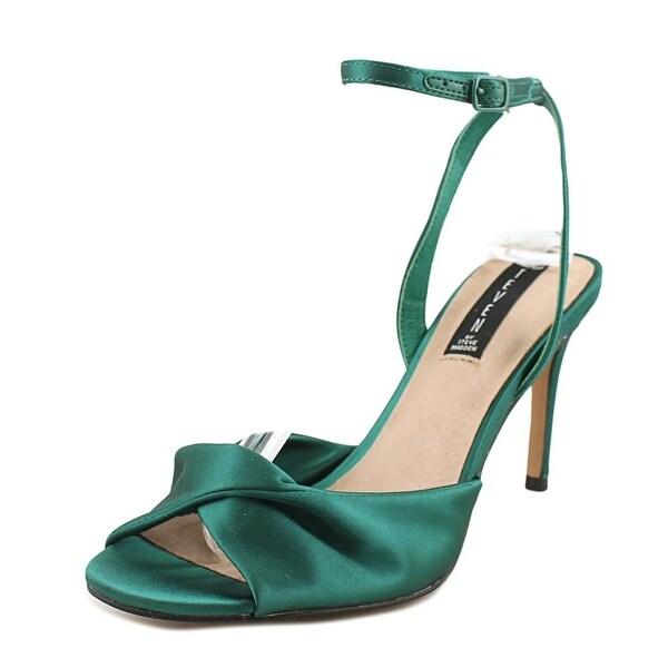 2d523b2348 Shop Steven Steve Madden Naira Women Open Toe Canvas Green Sandals ...