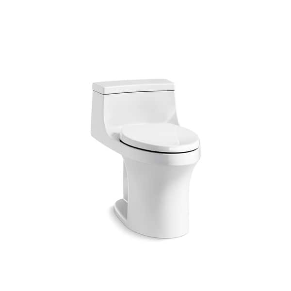 Shop Kohler San Souci Comfort Height One Piece Compact Elongated 1 28 Gpf Toilet With Right Hand Trip Lever White K 5172 Ra 0 On Sale Overstock 31484413