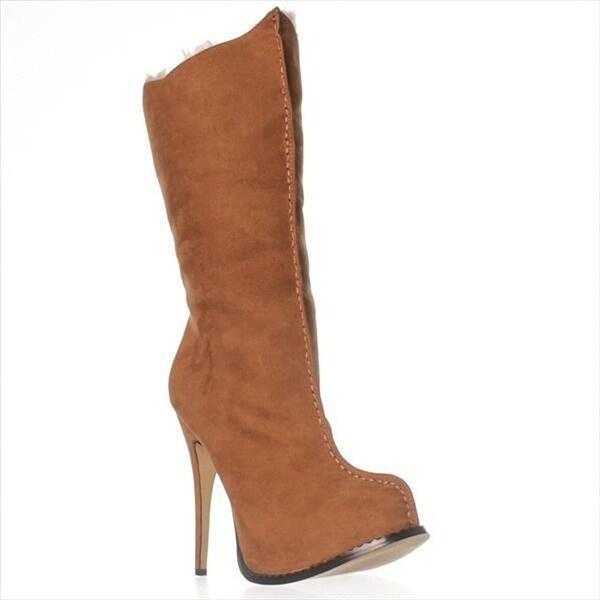 Paper Fox Caderyl Mid-Calf Boots - Cognac