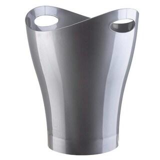 Umbra Garbino Plastic Waste Basket, Silver, 2.25 Gallons