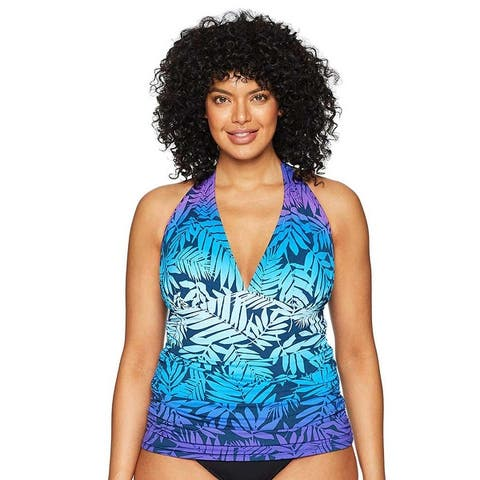 Bleu Rod Beattie Women Plus Size Halter Tankini Top - 18W