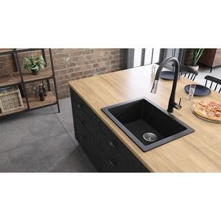 """Lavello Granite Composite 22"""" Drop in Single Bowl Kitchen Sink Turion"""