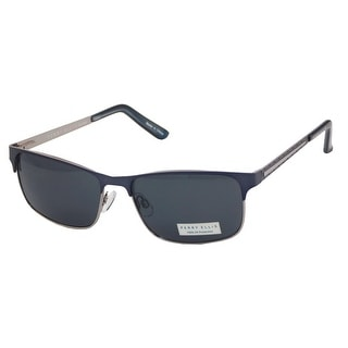 Perry Ellis Mens Metal Sunglasses Blue Grey PE64-3, Includes Perry Ellis Pouch, 100% UV Protection