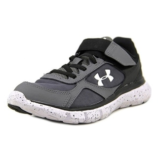 Under Armour Micro G Youth Round Toe Canvas Blue Running Shoe